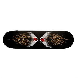 Reine de planche à roulettes de coeurs skateboards personnalisés