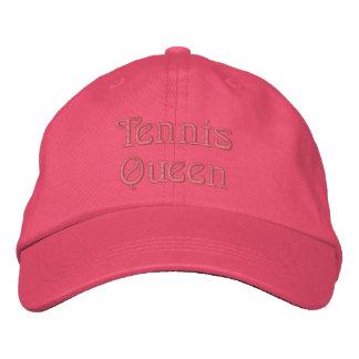 Reine de tennis casquette brodée