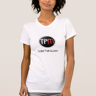 Reine de terrain de caravaning de dessus de t-shirt