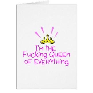 Reine de tout carte de vœux