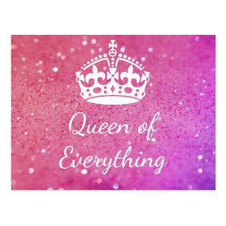 Reine de tout carte postale rose de Bokeh de