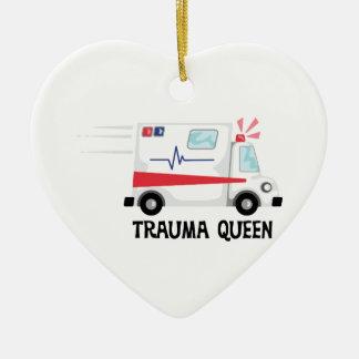 Reine de traumatisme ornement cœur en céramique