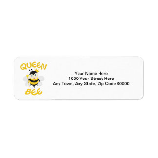Reine des abeilles étiquette d'adresse retour