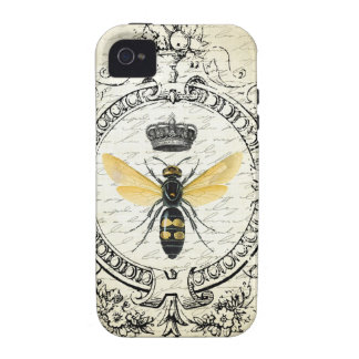 Reine des abeilles française VINTAGE MODERNE Coque iPhone 4/4S