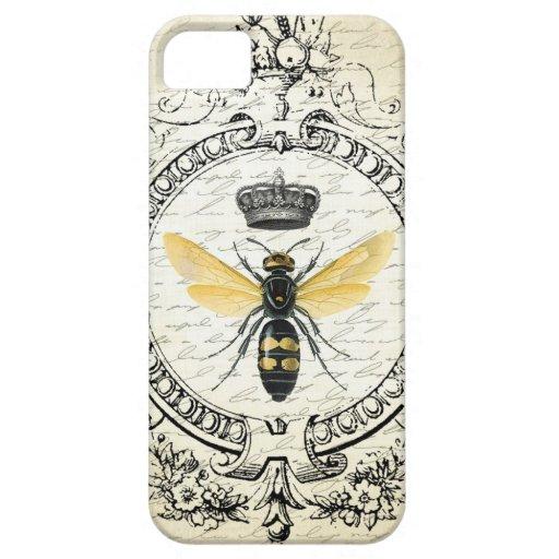Reine des abeilles française vintage moderne coques iPhone 5