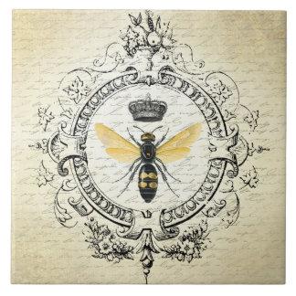 reine des abeilles française vintage moderne grand carreau carré