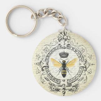 Reine des abeilles française vintage moderne porte-clés