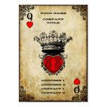 Reine grunge des coeurs carte de visite