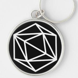 Reine (n)/grand (5,4 cm) porte-clés rond de la