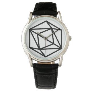 Reine (p)/cuir noir classique fait sur commande montres bracelet