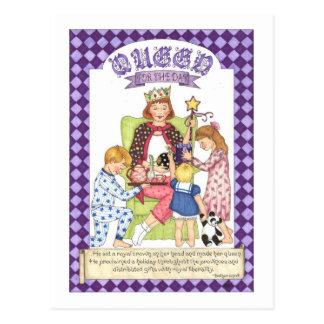 Reine pour la carte postale inspirée de jour