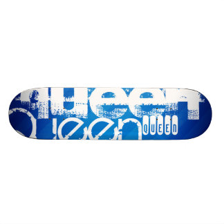 Reine ; Rayures bleues royales Skateboards Cutomisables