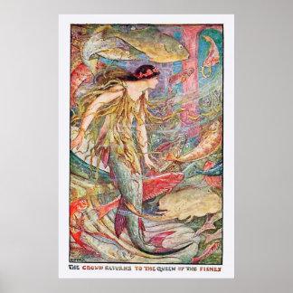 Reine sous-marine des poissons posters