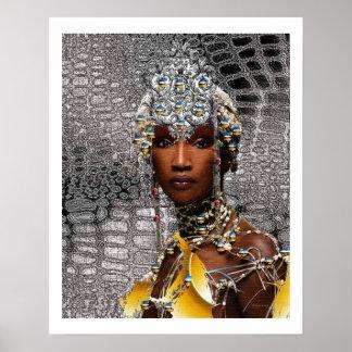 Reine tribale africaine affiches