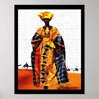 Reine tribale africaine de désert poster