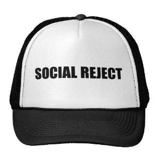 Rejet social casquette trucker