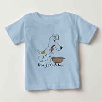 Reksio - le donnant un coup de pied OldSchool T-shirt Pour Bébé