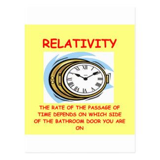 relativité carte postale