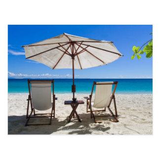 Relax sur la plage carte postale
