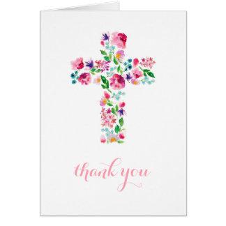 religieux floraux vous remercient de noter, pliant cartes de vœux