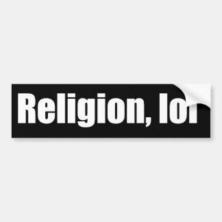 Religion, adhésif pour pare-chocs de lol autocollant pour voiture