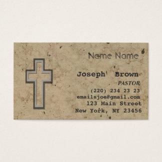 Religion croisée chrétienne professionnelle de cartes de visite