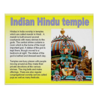Religion, temple hindou indien posters