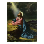 Religion vintage, Jésus-Christ priant, Gethsemane Posters