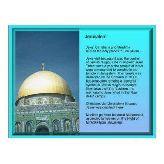 Religion, visiteurs vers Jérusalem Carte Postale