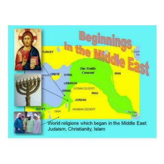 Religions du monde, débuts du Moyen-Orient Carte Postale