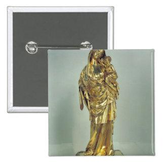 Reliquaire de la Vierge du d'Evreux de Jeanne Badge Carré 5 Cm