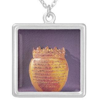 Reliquaire du coeur d'Anne de la Bretagne Pendentif Carré