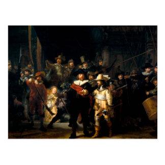 Rembrandt la carte postale de montre de nuit