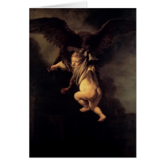 Rembrandt l'abduction de Ganymede Carte De Vœux