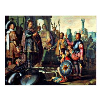 Rembrandt : Peinture d'histoire, illustration 1626 Carte Postale