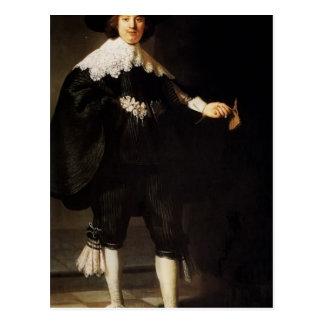 Rembrandt : Portrait de Maerten Soolmans Carte Postale