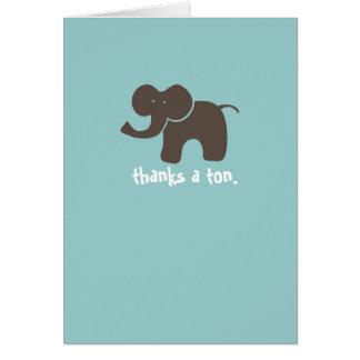 Remercie une tonne carte de vœux