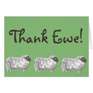 Remerciez la brebis ! Carte de voeux de moutons