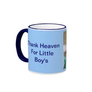 Remerciez le ciel de petits garçons mug ringer