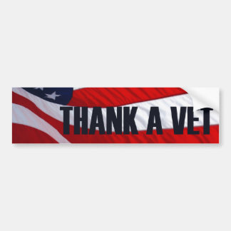 Remerciez un adhésif pour pare-chocs de drapeau am autocollant pour voiture