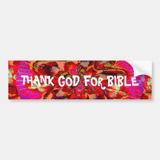 Remerciez un DIEU de la bible Autocollant Pour Voiture