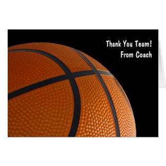 Remerciez vos cartes d'équipe de basket