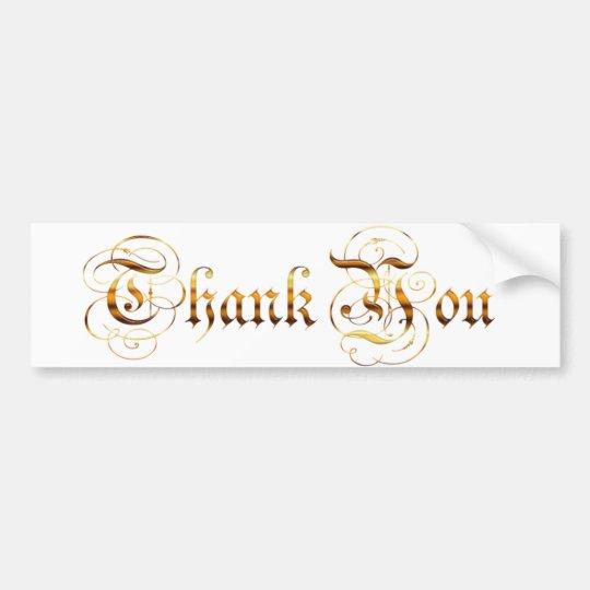 Remerciez you.text. autocollant de voiture