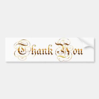 Remerciez you.text. autocollant pour voiture