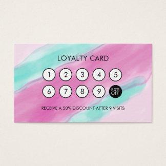 Remise élégante fraîche de fidélité d'aquarelle cartes de visite