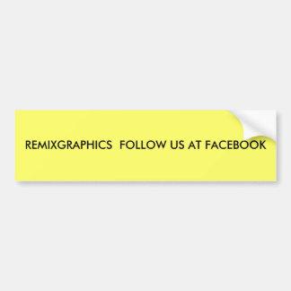REMIXGRAPHICS SUIVENT LES USA À FACEBOOK AUTOCOLLANT DE VOITURE