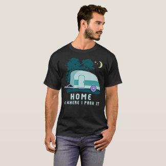 Remorque à la maison de larme de camping t-shirt