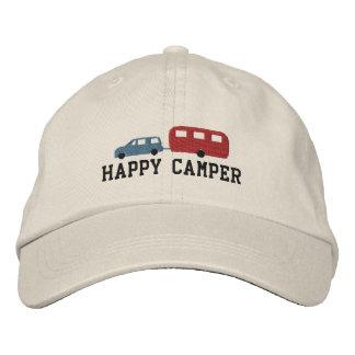 Remorque de campeur et profondément satisfait de casquette brodée