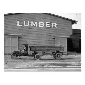 Remorque de tracteur tôt, 1925 carte postale