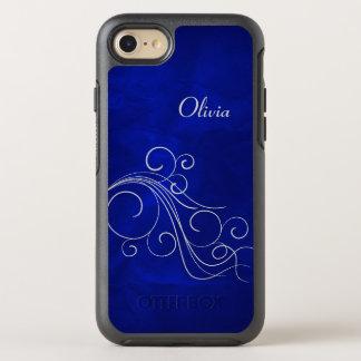 Remous argenté bleu lumineux coque otterbox symmetry pour iPhone 7